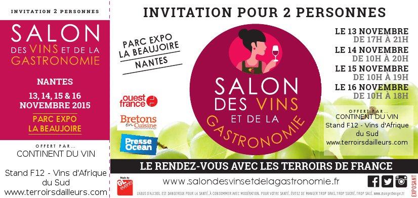 Actualit s de terroirs d ailleurs terroirs d 39 ailleurs for Salon gastronomie nantes
