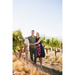 Tyrrel et Anna dans leurs vignes à Paarl