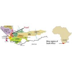 Carte Vignoble Paarl Afrique du Sud